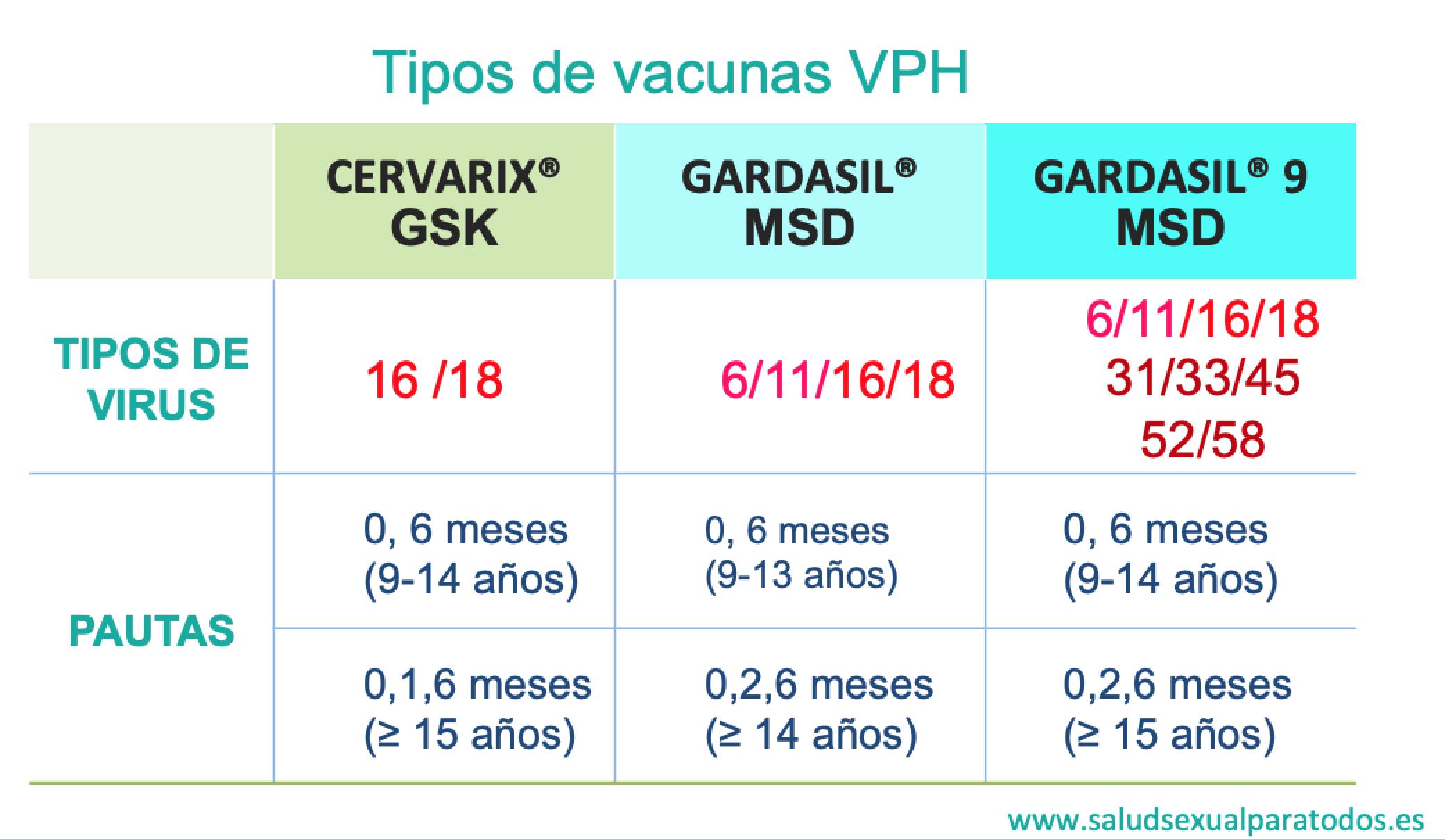 hpv papiloma virus 9 cepas